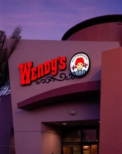Building Sign, Palm Springs CA | Wendy's