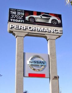 Electronic Message Board Signs, Duarte CA | Performance Nissan