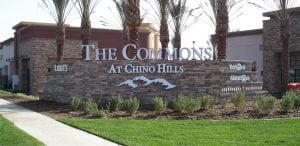 Monument Sign, Chino Hills CA | Ranch The Commons
