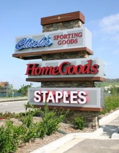 Multi-Tenant Sign, Ladera Ranch CA | Mercantile East Shopping Center