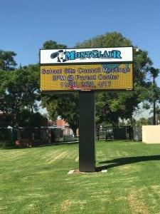 School Signs, Montclair CA | Montclair High School